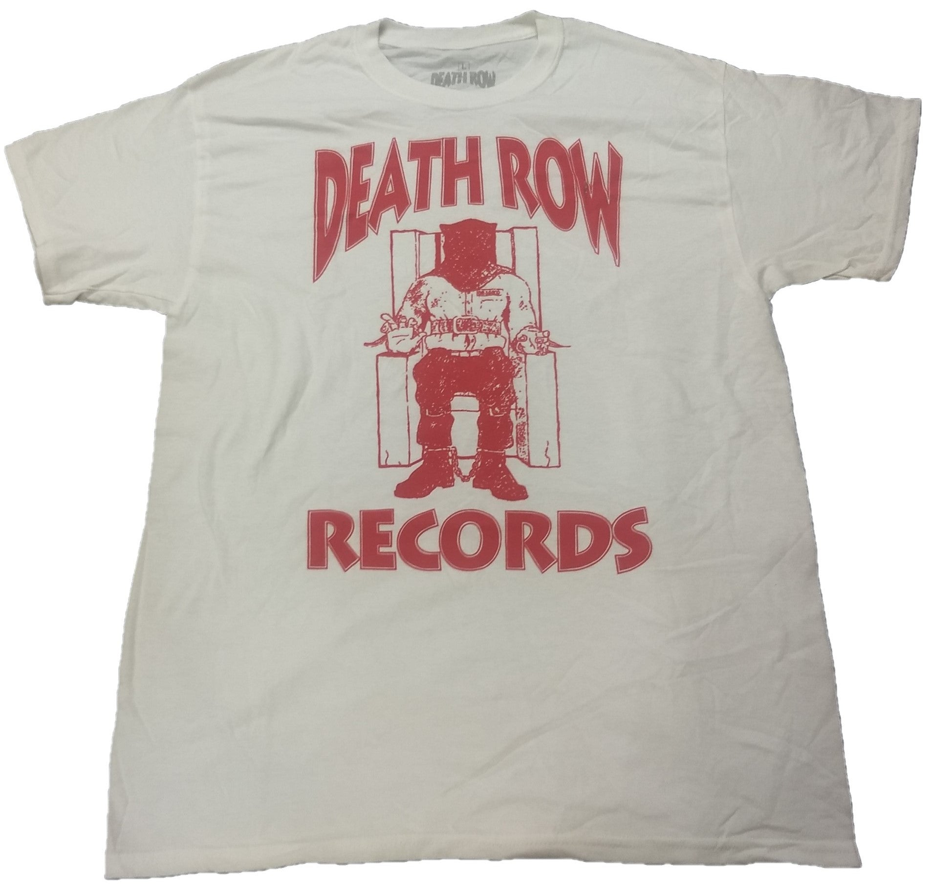 Death Row Records Mens White T-Shirt