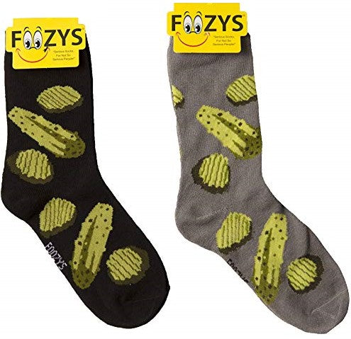 Dill Pickle Foozys Womens Crew Socks