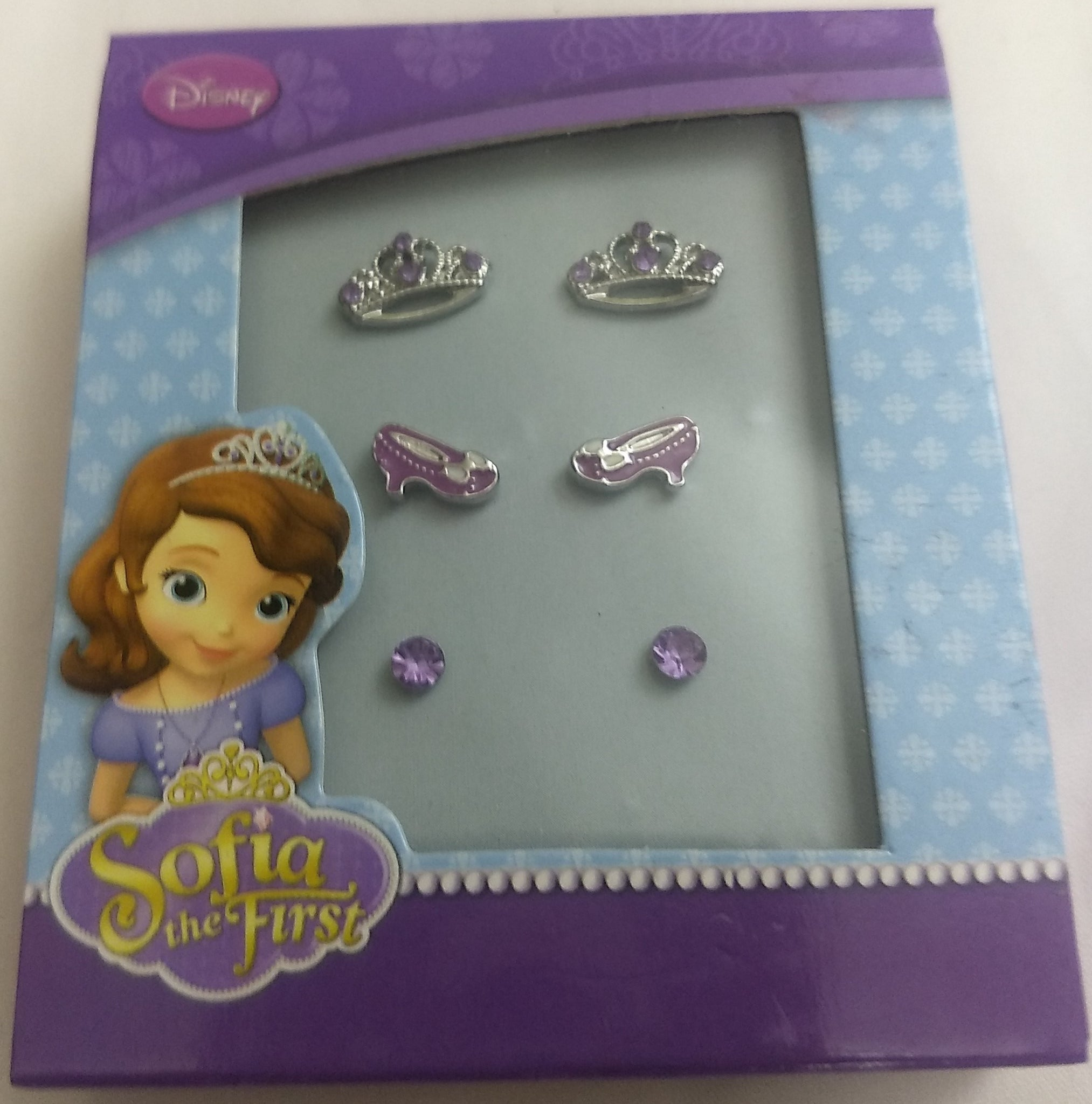 Disney Princess Sofia The First Earrings 3 pack