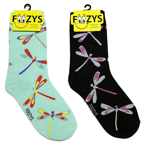 Dragonflies Foozys Womens Crew Socks