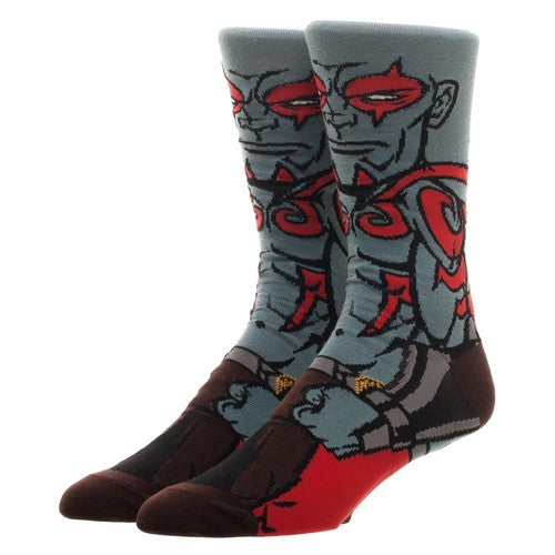 Drax The Destroyer Guardians of the Galaxy 360° Degree Character Crew Socks