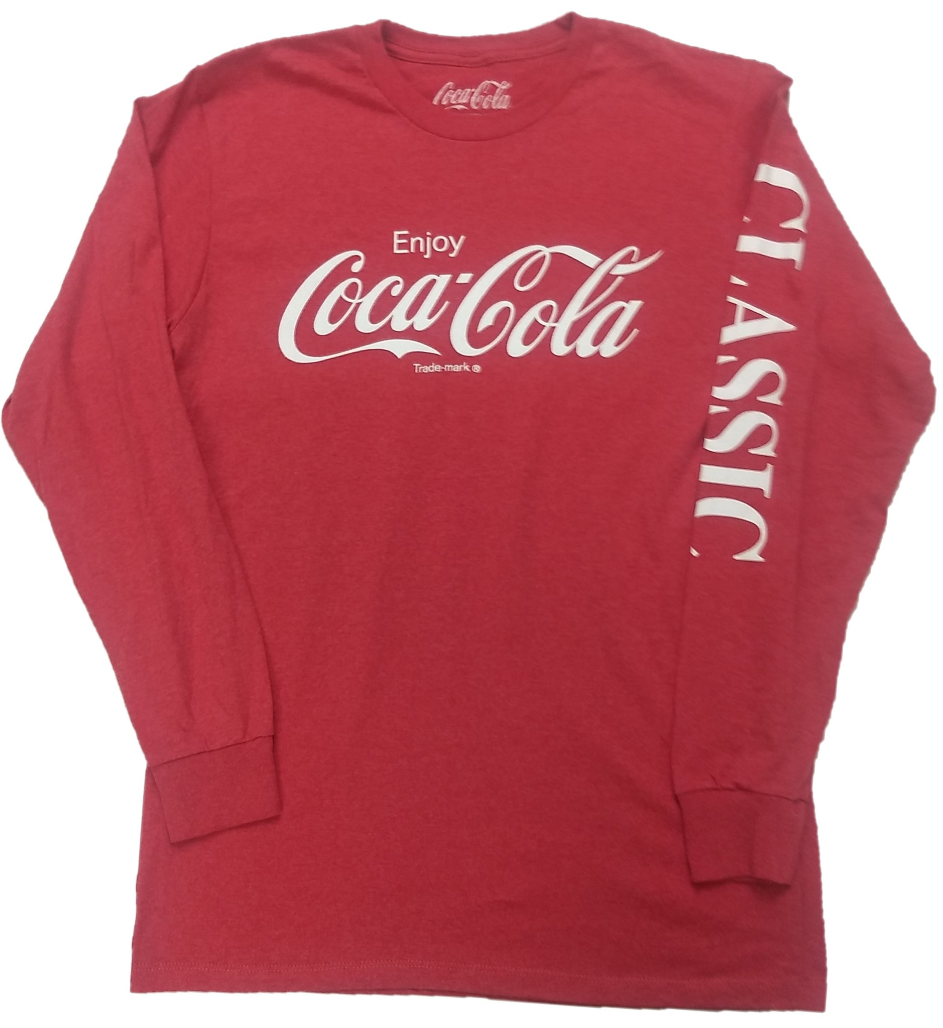 Enjoy Coca-Cola Coke Long Sleeve Mens Red T-Shirt