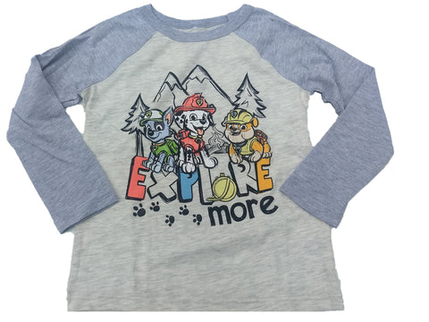 Paw Patrol Explore More Nick Jr. Nickelodeon Boys T-Shirt (Cream)