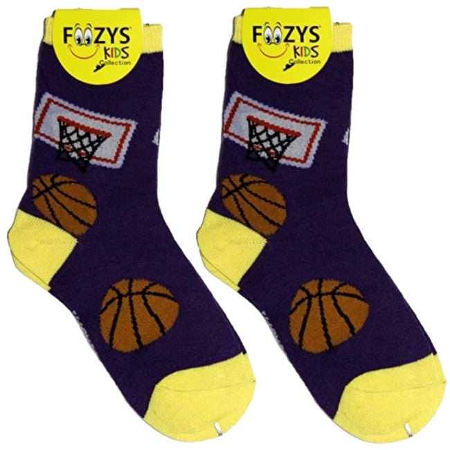 Basketball Foozys Boys Kids Crew Socks
