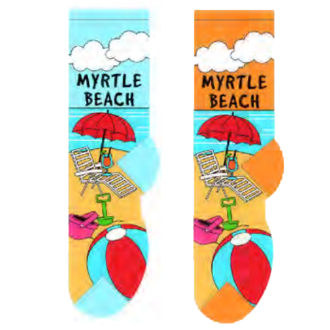 Myrtle Beach Foozys Womens Crew Socks