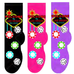Las Vegas (Women's Collection) Foozys Womens Crew Socks