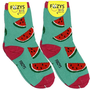 Watermelon Foozys Girls Kids Crew Socks