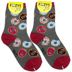 Donuts Foozys Girls Kids Crew Socks
