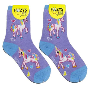 Unicorn Foozys Girls Kids Crew Socks