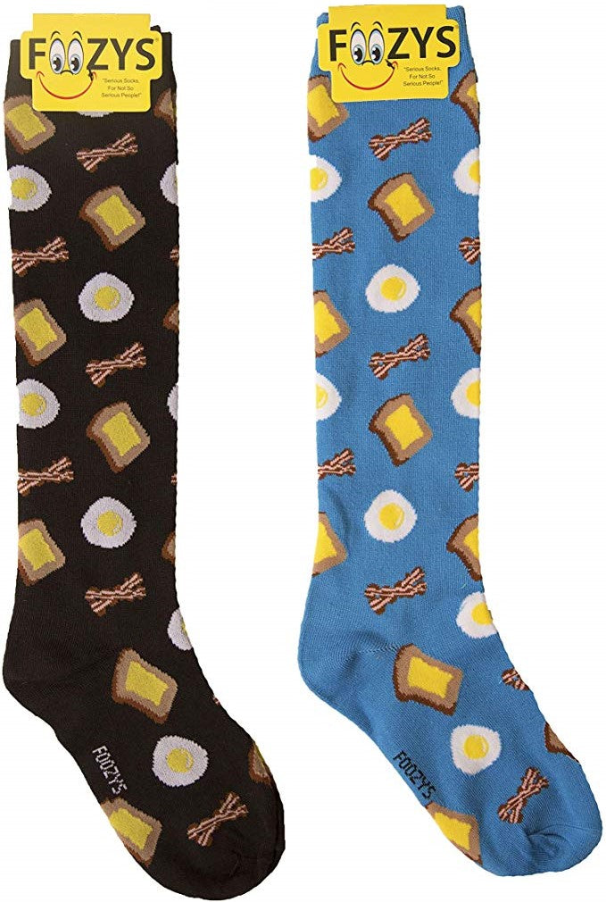 Breakfast Bacon & Eggs Foozys Knee High Socks