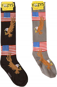 American Flag & Eagle Foozys Knee High Socks
