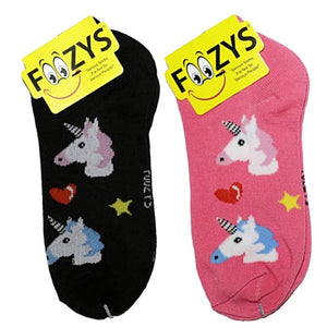 Unicorns Foozys Ankle No Show Socks