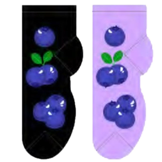 Blueberries Foozys Ankle No Show Socks