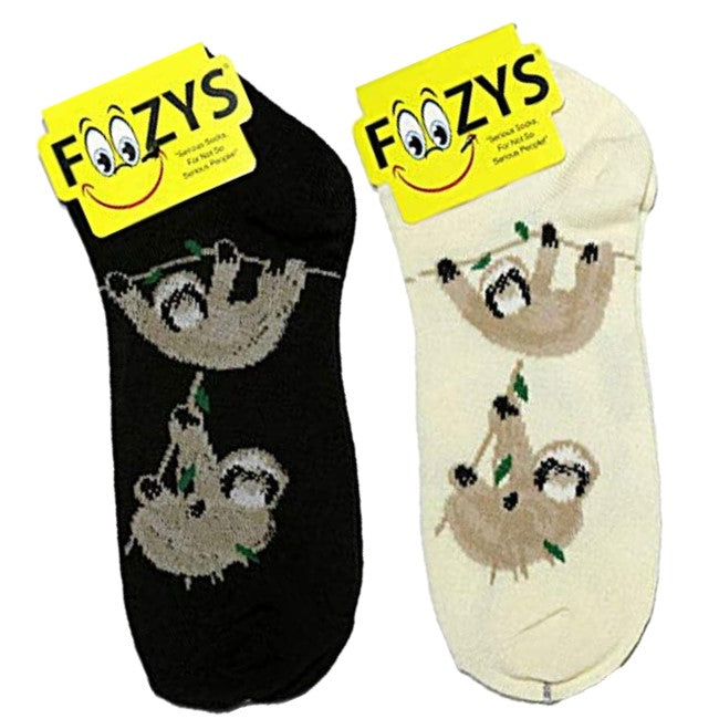 Sloths Foozys Ankle No Show Socks