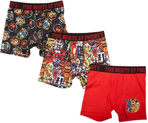 Five Nights at Freddys Boxer Briefs Boys 3 Pack Action Underwear