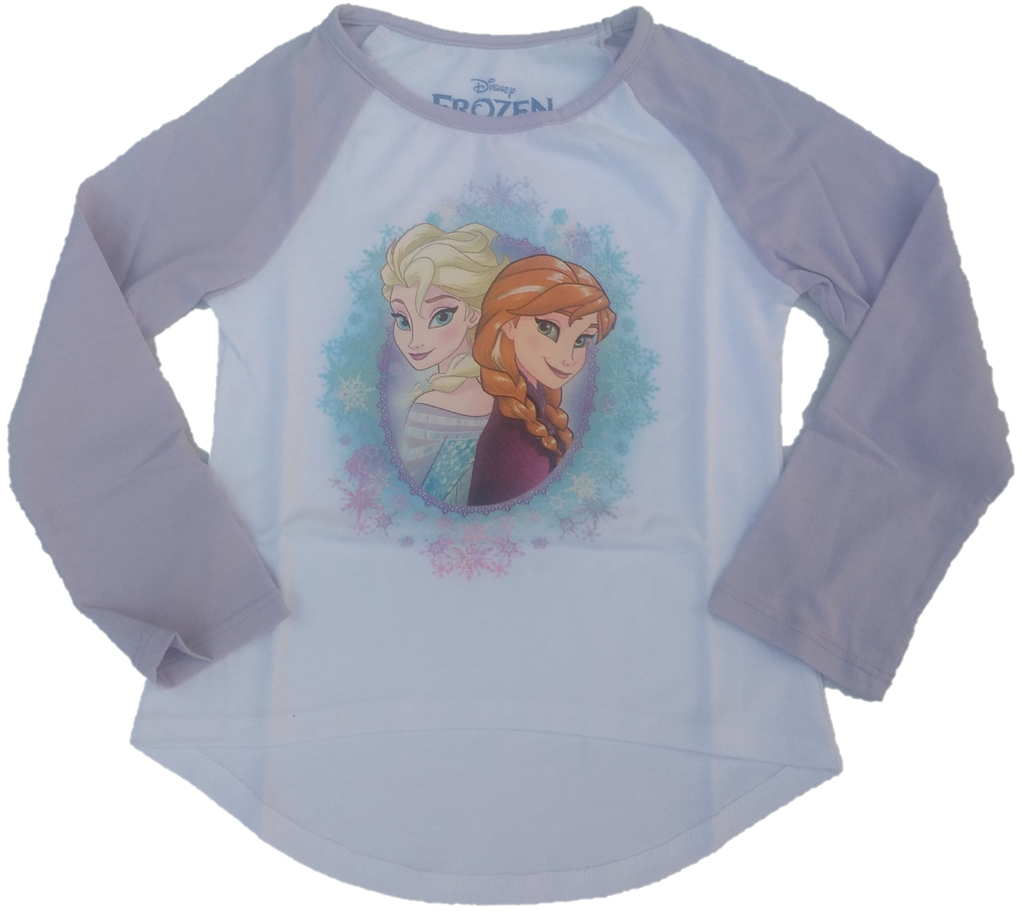 Frozen Anna Elsa Girls Long Sleeve T-Shirt