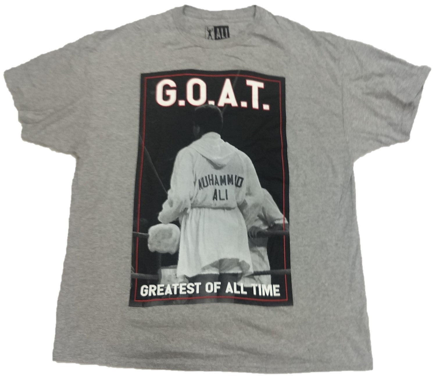 G.O.A.T Greatest of All Time Muhammad Ali Mens T-Shirt (Grey)