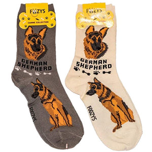 German Shepherd Foozys Canine Dog Crew Socks