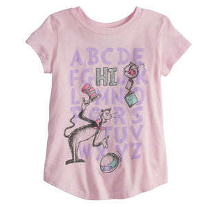 Dr. Seuss HI Alphabet Girls T-Shirt