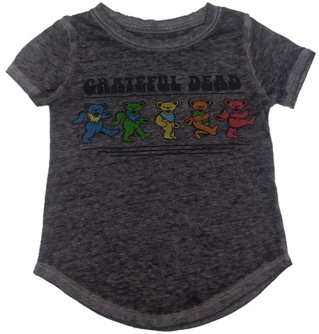 Grateful Dead Colorful Bears Dancing Boys Rock Band T-Shirt
