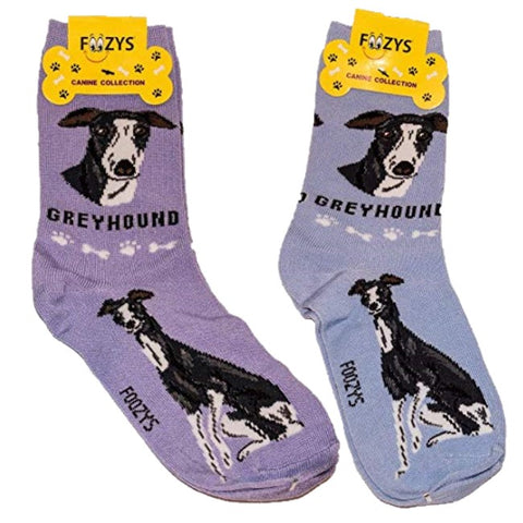 Greyhound Foozys Canine Dog Crew Socks