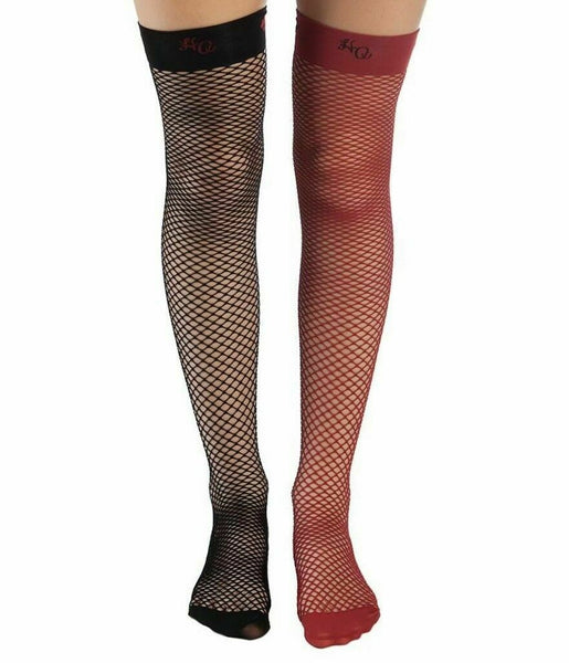Harley Quinn Batman Cosplay Fish Net Thigh High Stockings Socks