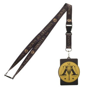 Harry Potter Ministry of Magic Lanyard with Rubber ID Badge Holder
