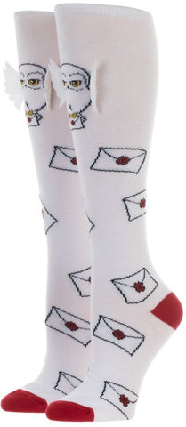 Hedwig w/ 3D Wing - Harry Potter Knee High Socks