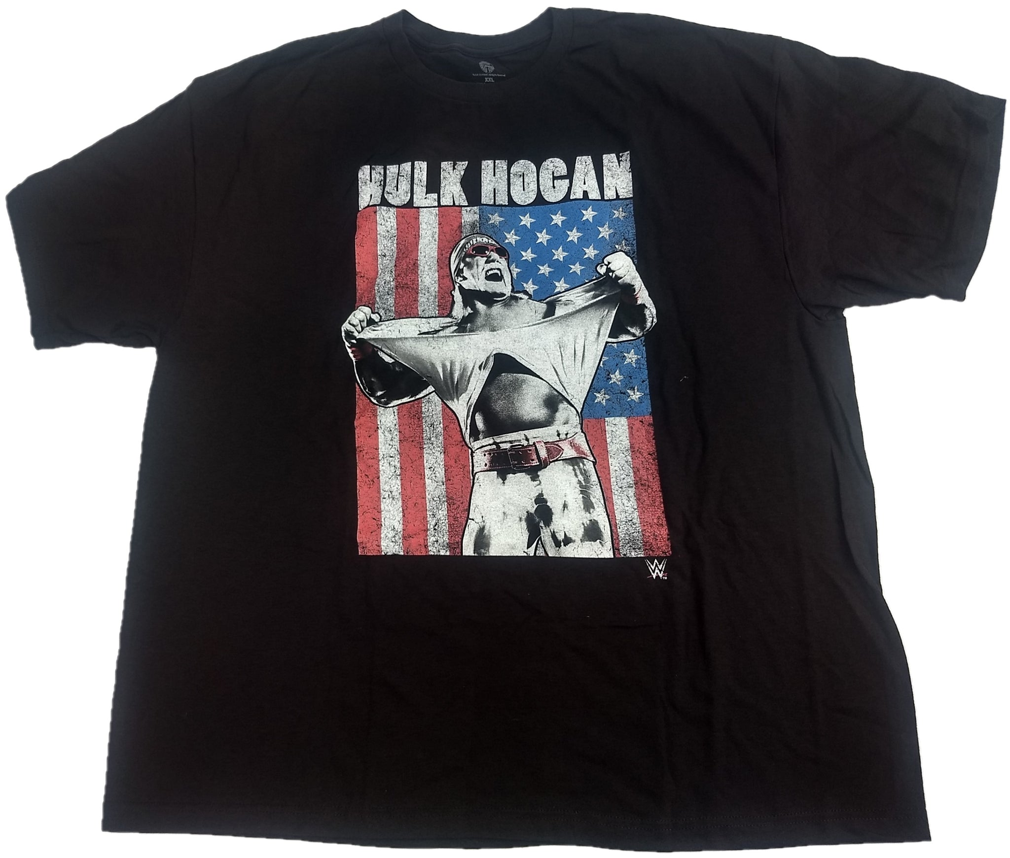 Hulk Hogan American Flag WWE Wrestling Mens T-Shirt