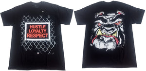 Hustle Loyalty Respect WWE Wrestling Mens T-Shirt (Black)