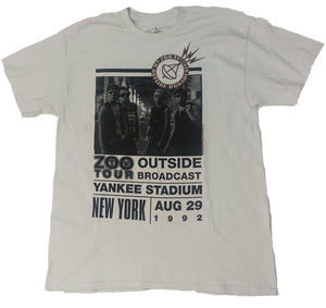 U2 ZOO TV TOUR YANKEE STADIUM 1992 MENS T-SHIRT