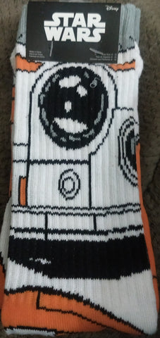 BB8 Droid Star Wars LucasFilm Crew Socks