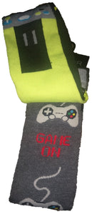 Gamer Game on Video Remote Controller Crew Socks 2 pairs