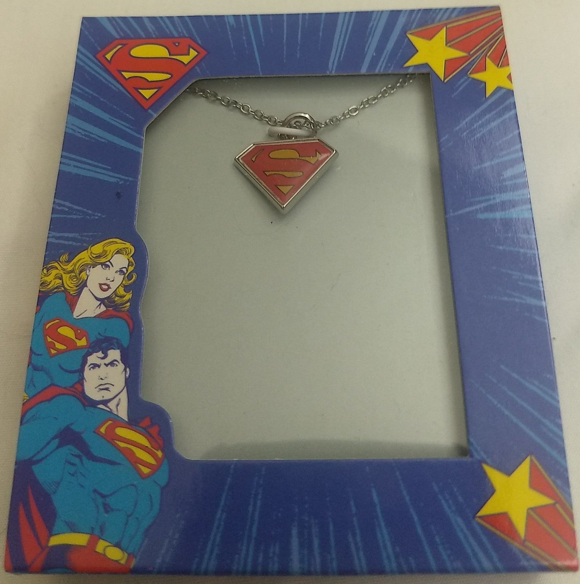 "Superman Logo Necklace 16"" Chain with 2"" Extension"