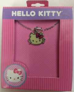 "Hello Kitty Face Sanrio Necklace 16"" Chain with 2"" Extension"