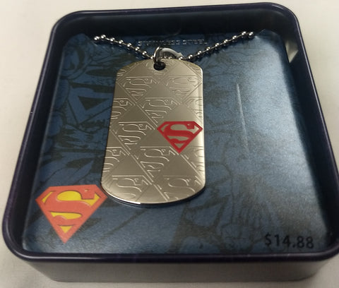 Superman DC Comics Dog Tag Pendant W/ Chain