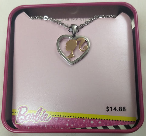 Barbie Stainless Steel Heart Pendant Chain Necklace