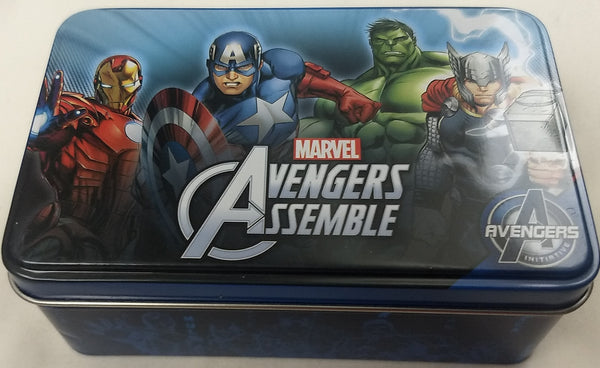 Avengers Assemble Dog Tag & Keychain Marvel Collector Tin