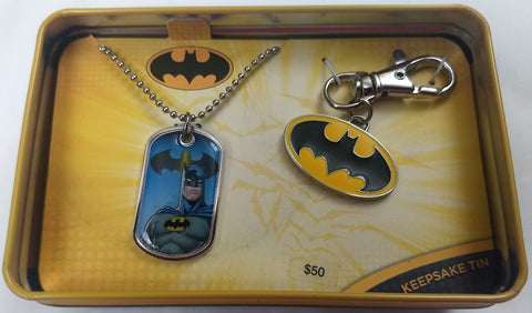 Batman Dogtag & Keychain DC Comics Collector Tin