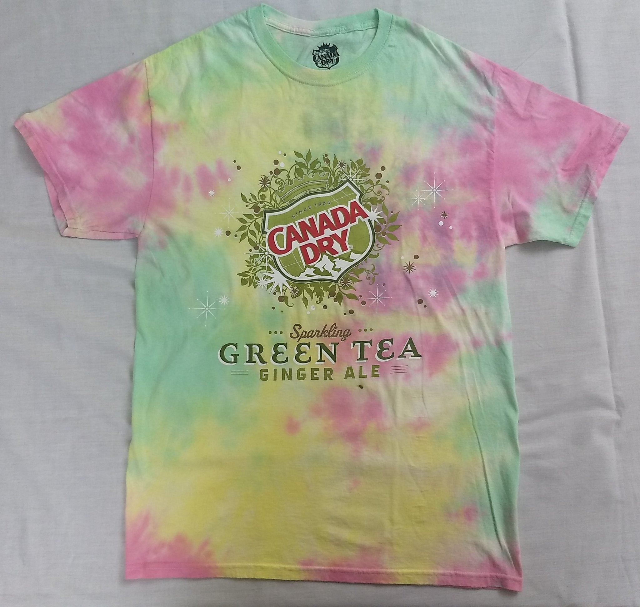 Canada Dry Sparling Green Tea Ginger Ale Tie Dye Mens T-Shirt