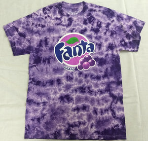 Fanta Grape Coke Coca-Cola Mens Tie Dye Purple T-Shirt