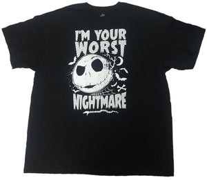 I'm Your Worst Nightmare Before Christmas Mens Black T-Shirt