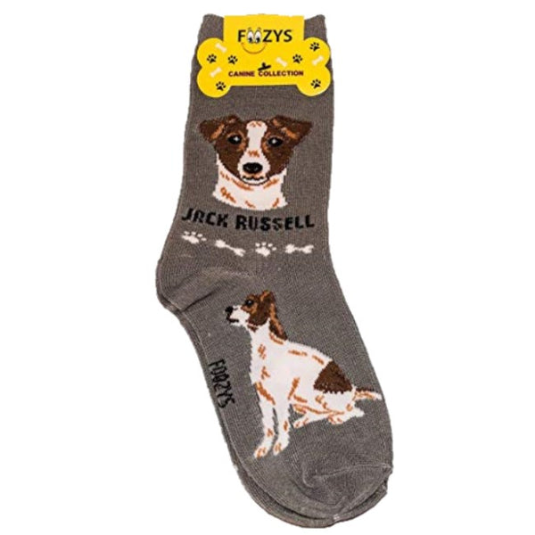Jack Russell - Canine Collection ~ Foozys by Crazy Awesome Socks ~ Choice 1 or 2 Pairs