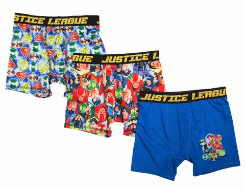 Justice League DC Comics Boxer Briefs Boys 3 Pack Action Underwear