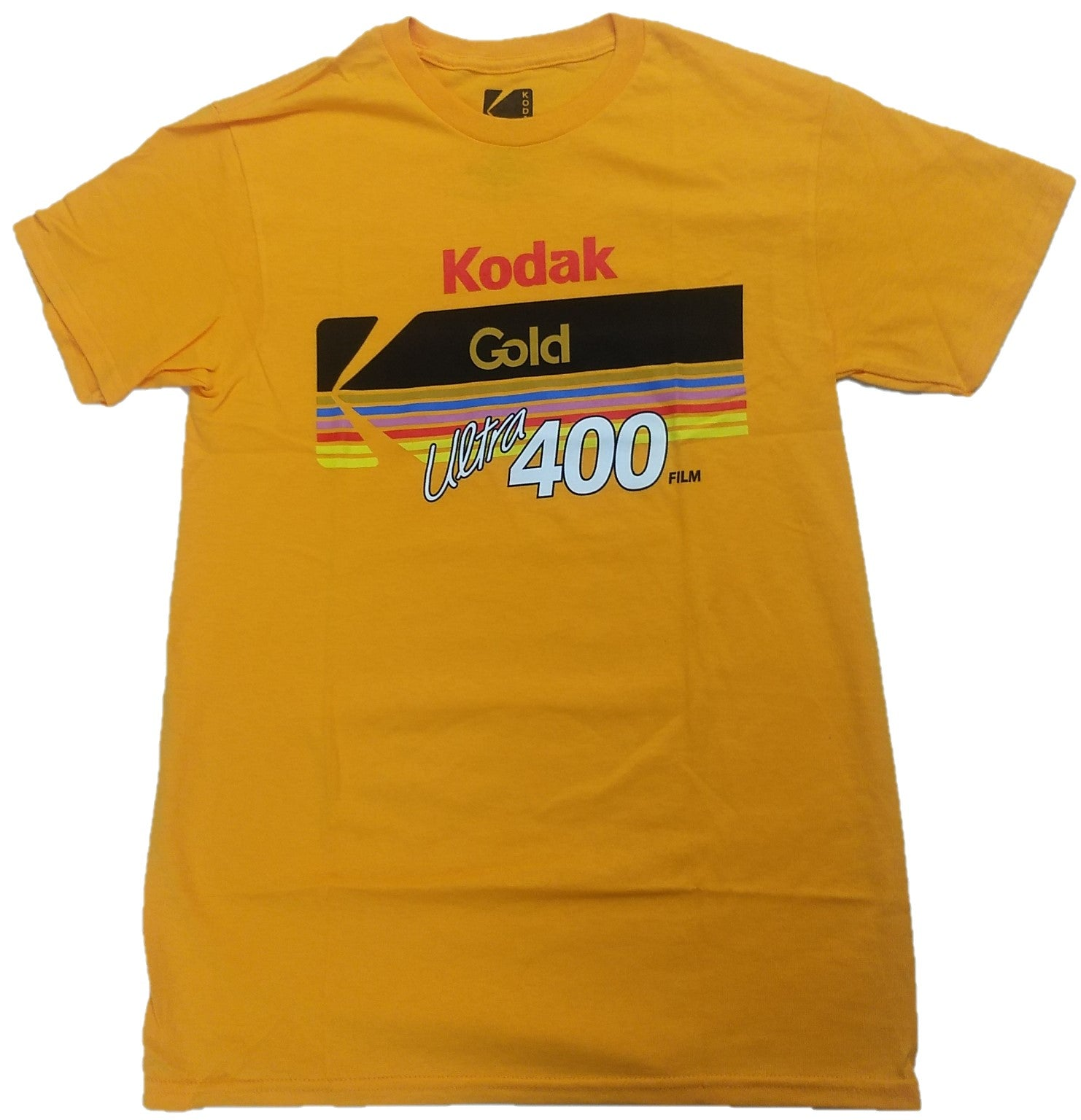 Kodak Camera Gold Ultra 400 Film Vintage Mens T-Shirt (Yellow)