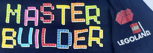 Lego Master Builder Boys Tee T-Shirt Officially Licensed