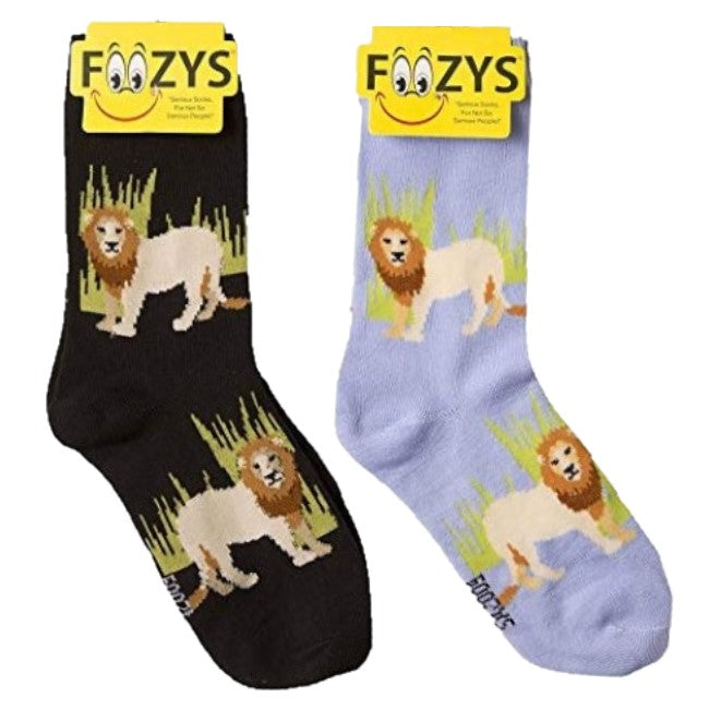 Lion Foozys Womens Crew Socks