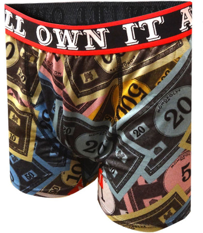Mens Mad Engine Monopoly Own It All Performance Boxer Briefs