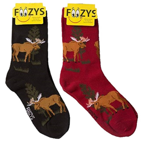 Maine Moose Foozys Womens Crew Socks