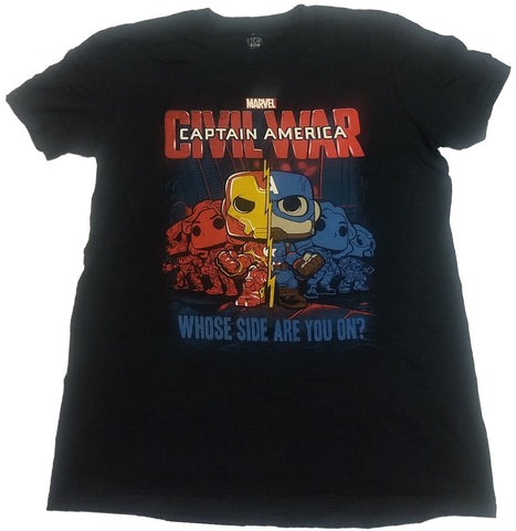 Marvel Captain America Civil War Whose Side Funko Pop! Tee Mens T-shirt